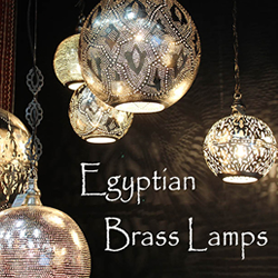 Egyptian Brass Lamp