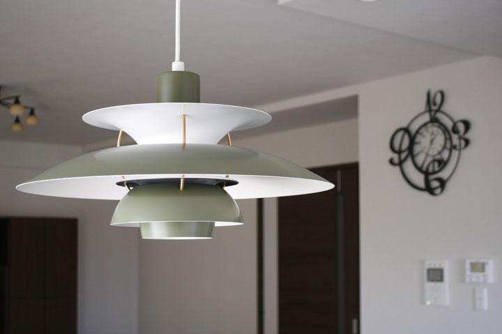 PH5 Contemporary サイズ:φ500×H285/コード長さ1.5m  消費電力:150W(LED使用可)